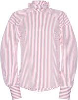 MSGM Pinstripe Bow-Embellished Shirt