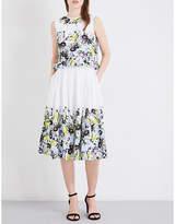 Erdem Lenten Field-print cotton-poplin midi dress