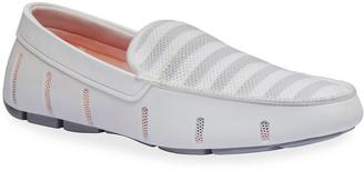 Swims Men's Striped Mesh/Rubber Venetian Driver Loafers