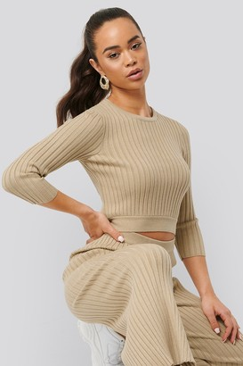 NA-KD Round Neck Ribbed Knitted Sweater