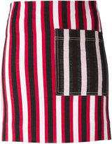 Ports 1961 striped mini skirt - women - Cotton/Polyamide/Spandex/Elastane - 36