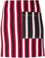 Ports 1961 striped mini skirt - women - Cotton/Polyamide/Spandex/Elastane - 38
