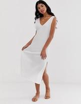 Asos DESIGN midi textured column dress