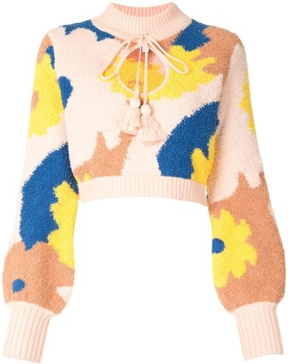 Alice McCall Sweet Talk cropped jumper