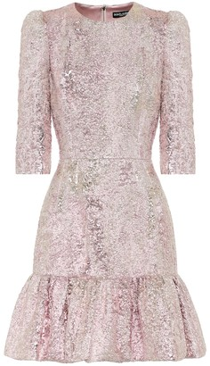 Dolce & Gabbana Lame jacquard minidress