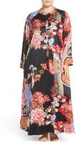 Natori Plus Size Women's Front Zip Print Caftan