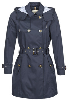 Esprit CLASSIC TRENCH women's Trench Coat in Blue
