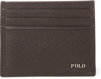 Ralph Lauren Metal-Plaque Leather Card Case