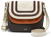 Fossil Peyton Braided Double-Flap Cross-Body Bag