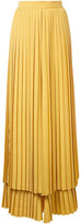 Sara Battaglia pleated layered trousers - women - Polyester - 42