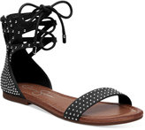 Jessica Simpson Kaduna Two-Piece Lace-Up Flat Sandals