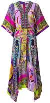 Etro mixed print handkerchief dress