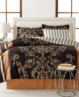 Sunham Sabrina Reversible 8-Piece King Bedding Ensemble