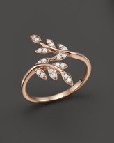 Bloomingdale's Diamond Leaf Ring in 14K Rose Gold, .20 ct. t.w.