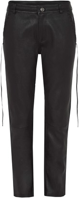 West 14th The Bondi Slouch Pant Black Stretch Leather