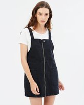 Only Aya Zip Denim Overall Dress
