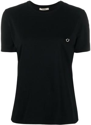 Zilver crew neck Piercing T-shirt