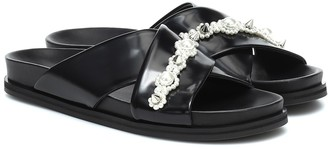 Simone Rocha Embellished leather sandals