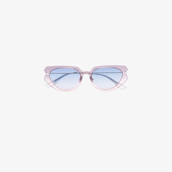 Christian Dior Grey And Pink Attitude Sunglasses