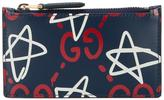 Gucci GucciGhost logo card holder - unisex - Leather - One Size