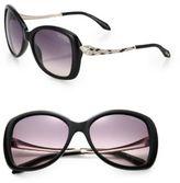 Roberto Cavalli Embellished Snake 57MM Round Sunglasses