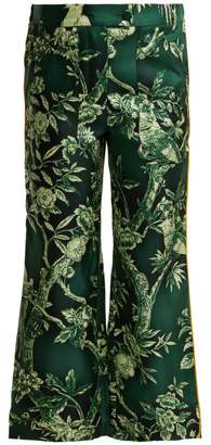 F.R.S For Restless Sleepers F.R.S – For Restless Sleepers Limos Ramage Silk Twill Trousers - Womens - Green Print