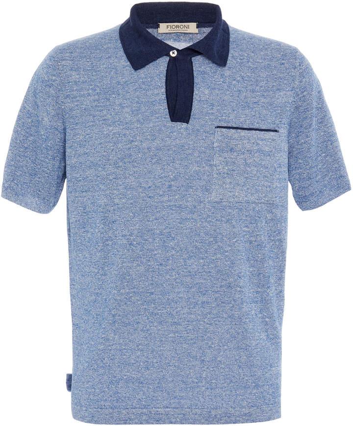 Fioroni Mélange Linen and Cotton-Blend Polo Shirt