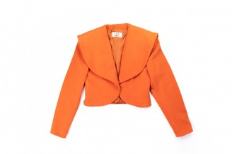 Christian Dior Orange Wool Leather jackets