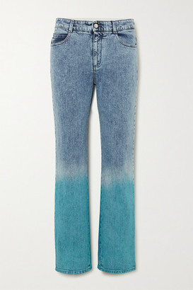Stella McCartney Degrade Mid-rise Straight-leg Jeans - Blue