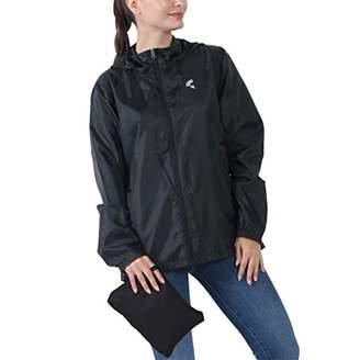 THE PLUS PROJECT Womens Waterproof Lightweight Rain Jacket Active Outdoor Hooded Raincoat 4XL