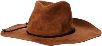 San Diego Hat Company Women's 3.75 Brim Faux Suede Floppy Fedora Hat with Braided Trim