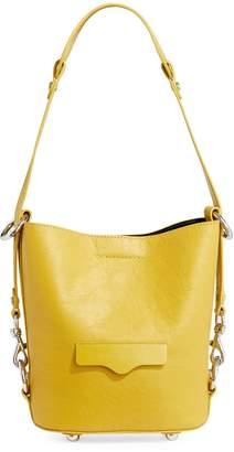 Rebecca Minkoff Small Utility Convertible Leather Bucket Equestrian Bag