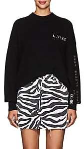 Alexander Wang Women's Embellished Wool-Blend Crewneck Sweater - Black