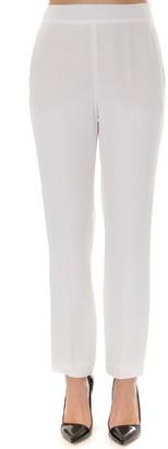 Lanvin Cream Satin Tailored Trousers