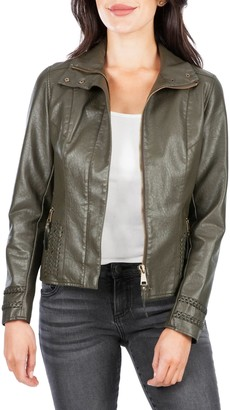 KUT from the Kloth Britney Faux Leather Moto Jacket