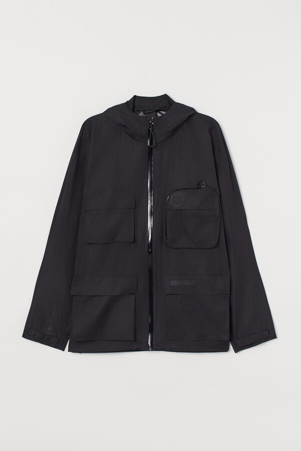 H&M Water-repellent Shell Jacket - Black