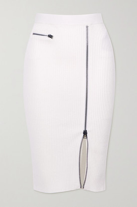 Tom Ford Ribbed Wool-blend Midi Skirt