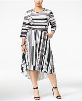 Melissa McCarthy Trendy Plus Size High-Low Dress