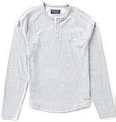 Original Penguin Sueded Plated Long-Sleeve Henley