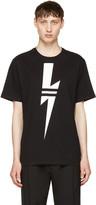 Neil Barrett Black & White Thunderbolt T-Shirt
