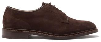 Tricker's Robert Suede Derby Shoes - Dark Brown
