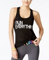 Material Girl Active Juniors' Strappy-Back Graphic Tank Top