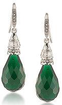Carolee Wall Street Emerald Drop Earrings