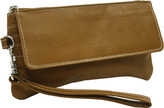 Piel Women's Leather Flap-Over Wristlet 2782