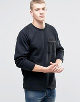 Jack and Jones Zip Pocket Sweat with Drawstring Hem