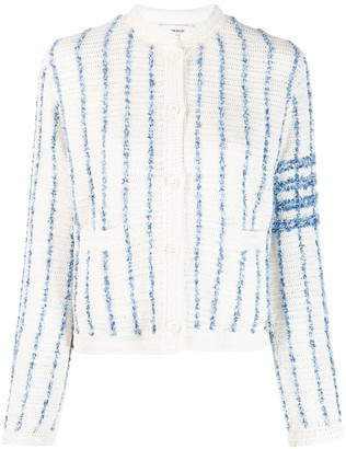 Thom Browne Vertical-Stripe Cardigan