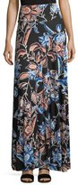 Rachel Pally Long Full Folk Floral Printed Jersey Skirt, Plus Size