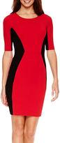 Bisou Bisou Elbow-Sleeve Colorblock Sheath Dress