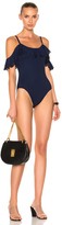 Karla Colletto Temptation Swimsuit in Black,Blue.