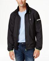 Izod Men's Reflective Raincoat and Windbreaker Jacket